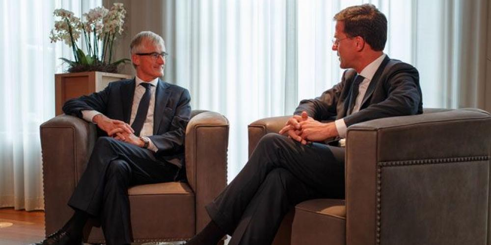 "MP""s Geert Bourgeois en Mark Rutte"